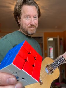 Andrew with Rubixs Cube